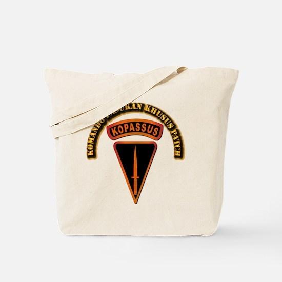 Komando Pasukan Khusus Patch - With Text Tote Bag
