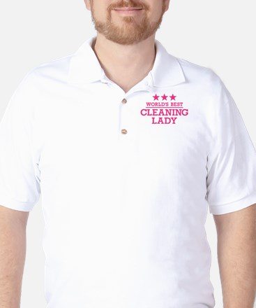 World's best cleaning lady Golf Shirt