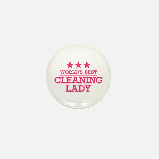 World's best cleaning lady Mini Button