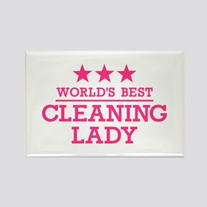 World's best cleaning lady Rectangle Magnet