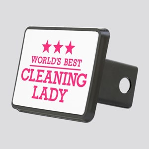 World's best cleaning lady Rectangular Hitch Cover