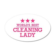 World's best cleaning lady Wall Decal