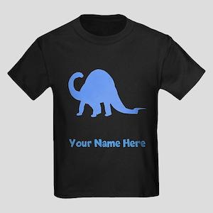 Brachiosaurus Silhouette (Blue) T-Shirt