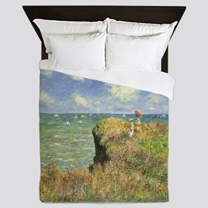 Cliff Walk at Pourville by Claude Mone Queen Duvet