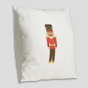 Nutcracker Burlap Throw Pillow
