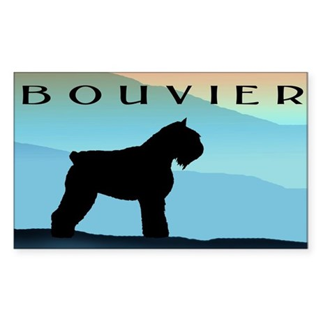 Blue Mountains Bouvier Dog Rectangle Sticker
