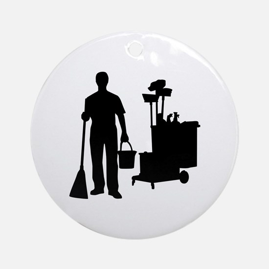 Cleaning service Ornament (Round)