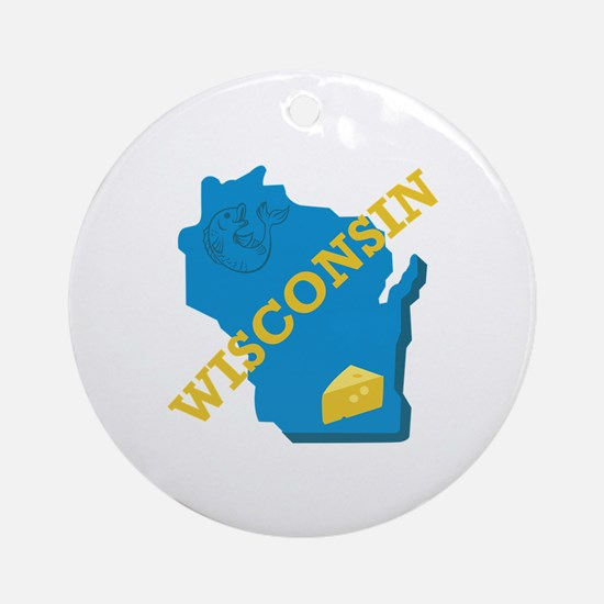 Wisconsin Ornament (Round)