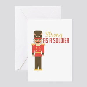 Strong Soldiler Greeting Cards