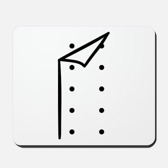 Chef uniform Mousepad