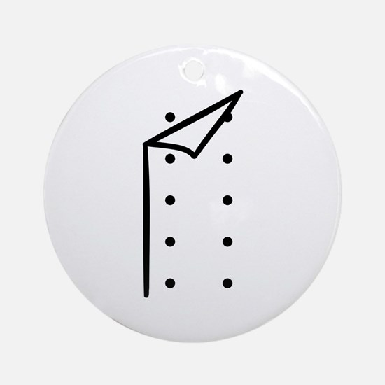 Chef uniform Ornament (Round)
