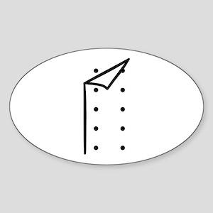 Chef uniform Sticker (Oval)
