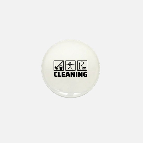 Cleaning housekeeping Mini Button