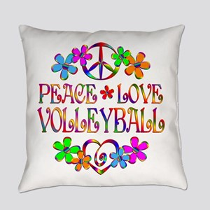 Peace Love Volleyball Everyday Pillow