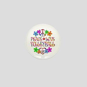 Peace Love Volleyball Mini Button