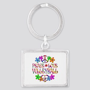 Peace Love Volleyball Landscape Keychain