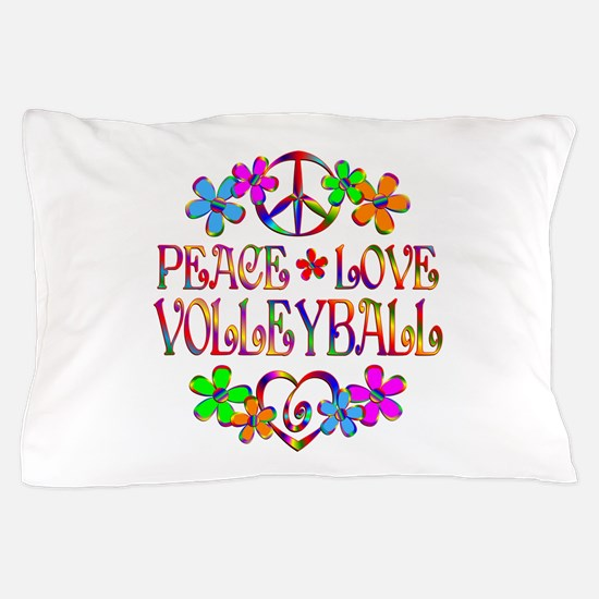 Peace Love Volleyball Pillow Case