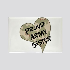 Proud Army sister heart Rectangle Magnet