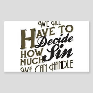 Boardwalk Empire: How Much Sin Sticker (Rectangle)