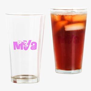 Mya Flower Design Drinking Glass