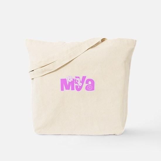Mya Flower Design Tote Bag