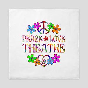 Peace Love Theatre Queen Duvet