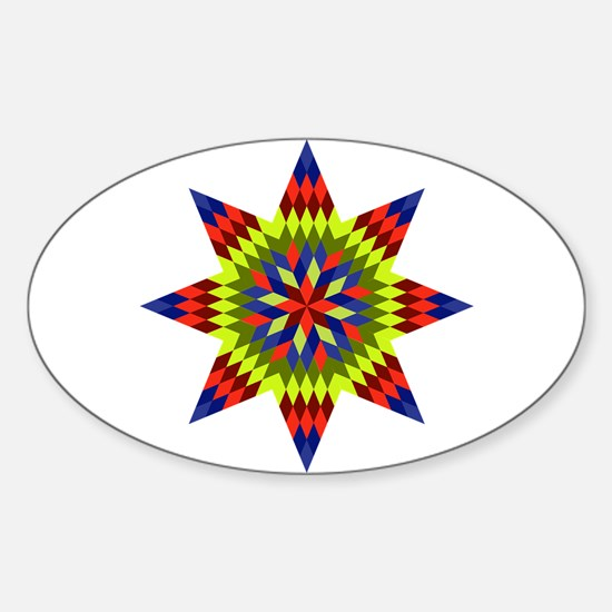 Native Stars Sticker (Oval)