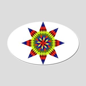 Native Stars 20x12 Oval Wall Decal