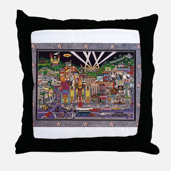 Hollywood Stars Throw Pillow