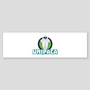 Unipaca Unicorn Alpaca C67aj Bumper Sticker