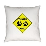 Cougar Mountain Lion Crossing Everyday Pillow
