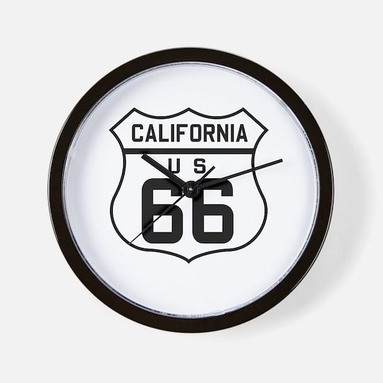 Cute Route 66 california Wall Clock
