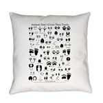 North American Animal Tracks Guide Everyday Pillow