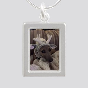 Silver Portrait Necklace