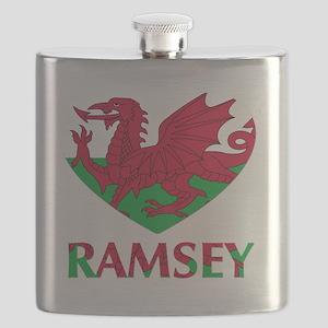 I Heart Ramsey Flask