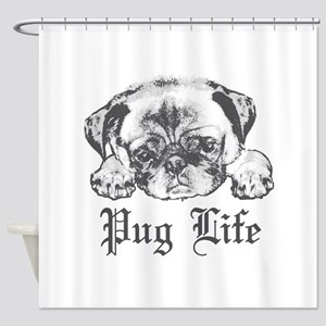 Pug Life 2 Shower Curtain