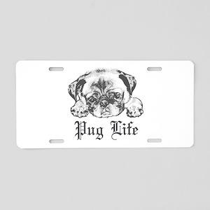 Pug Life 2 Aluminum License Plate