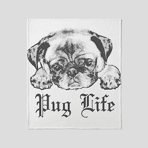 Pug Life 2 Throw Blanket