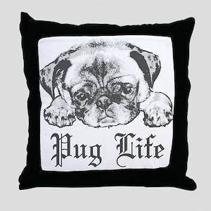 Pug Life 2 Throw Pillow