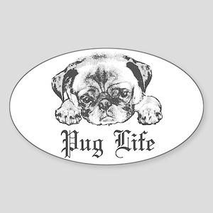 Pug Life 2 Sticker (Oval)