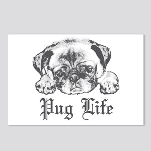 Pug Life 2 Postcards (Package of 8)
