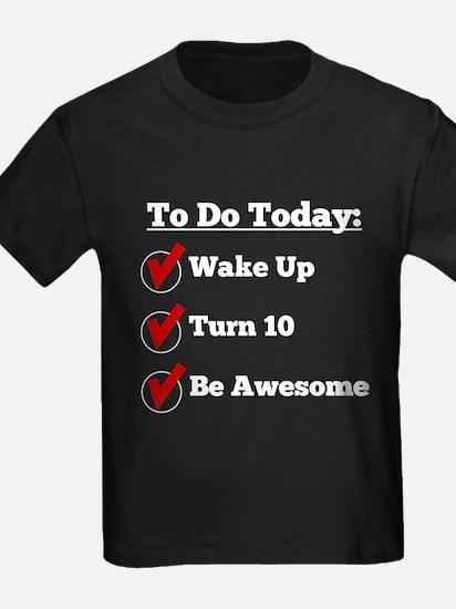 10th Birthday Checklist T-Shirt