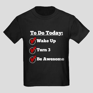 3rd Birthday Checklist T-Shirt
