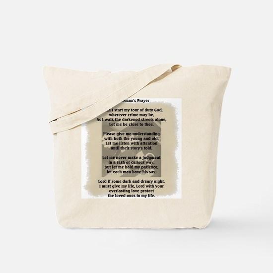 Policeman's Prayer Tote Bag