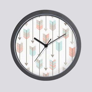 Bohemian Tribal Arrows Pattern Wall Clock