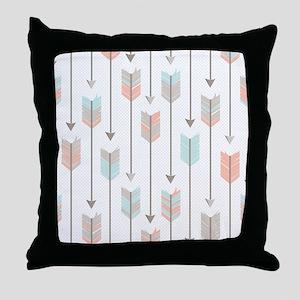 Bohemian Tribal Arrows Pattern Throw Pillow