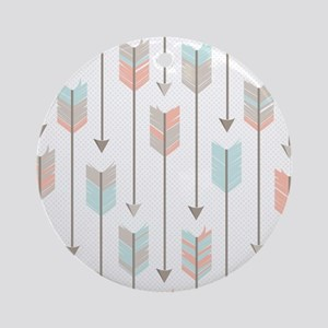 Bohemian Tribal Arrows Pattern Ornament (Round)