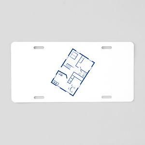 Floor Plan Aluminum License Plate