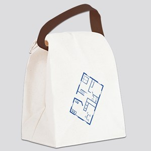 Floor Plan Canvas Lunch Bag