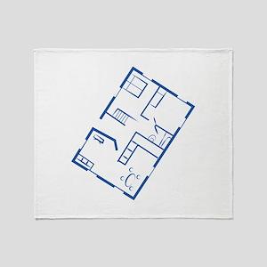 Floor Plan Throw Blanket